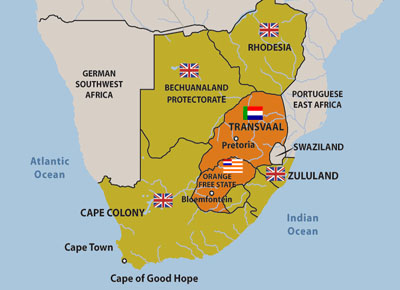 Map of South Africa ca 1900 Culture Contact and Colonialism